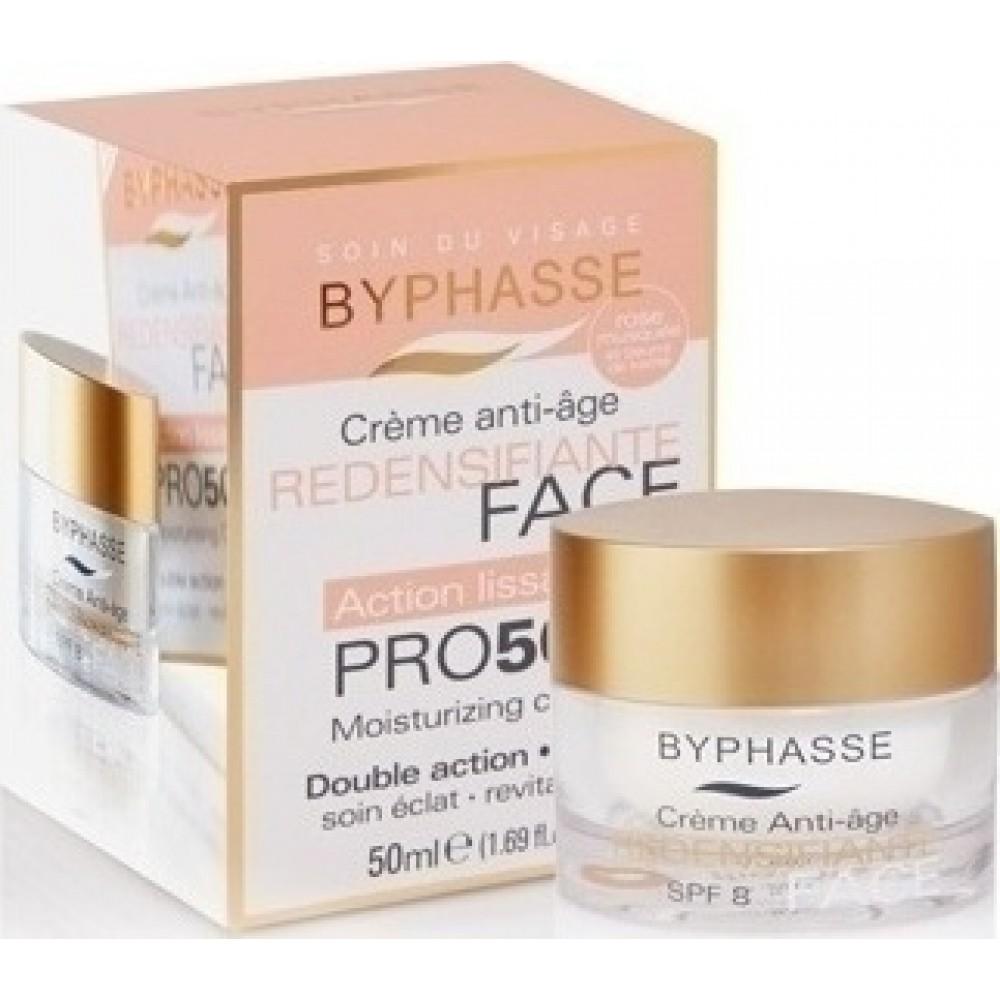 Αντιρυτιδική κρέμα προσώπου Byphasse Anti-aging Cream Pro50 Years Skin Tightening SPF8 50ml