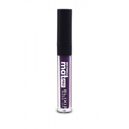 Elixir Liquid Lip Mat Pro κραγιόν - Lipgloss - 465- Very Dark Purple 10,2ml