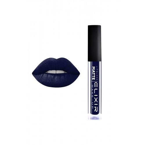 Elixir Liquid Lip Matte  - κραγιόν - Lipgloss - 412- Blue Black 10,2ml