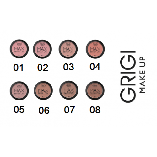GRIGI MAKE-UP MAX BLUSH ON ΡΟΥΖ 01 ΡΟΖ 9g