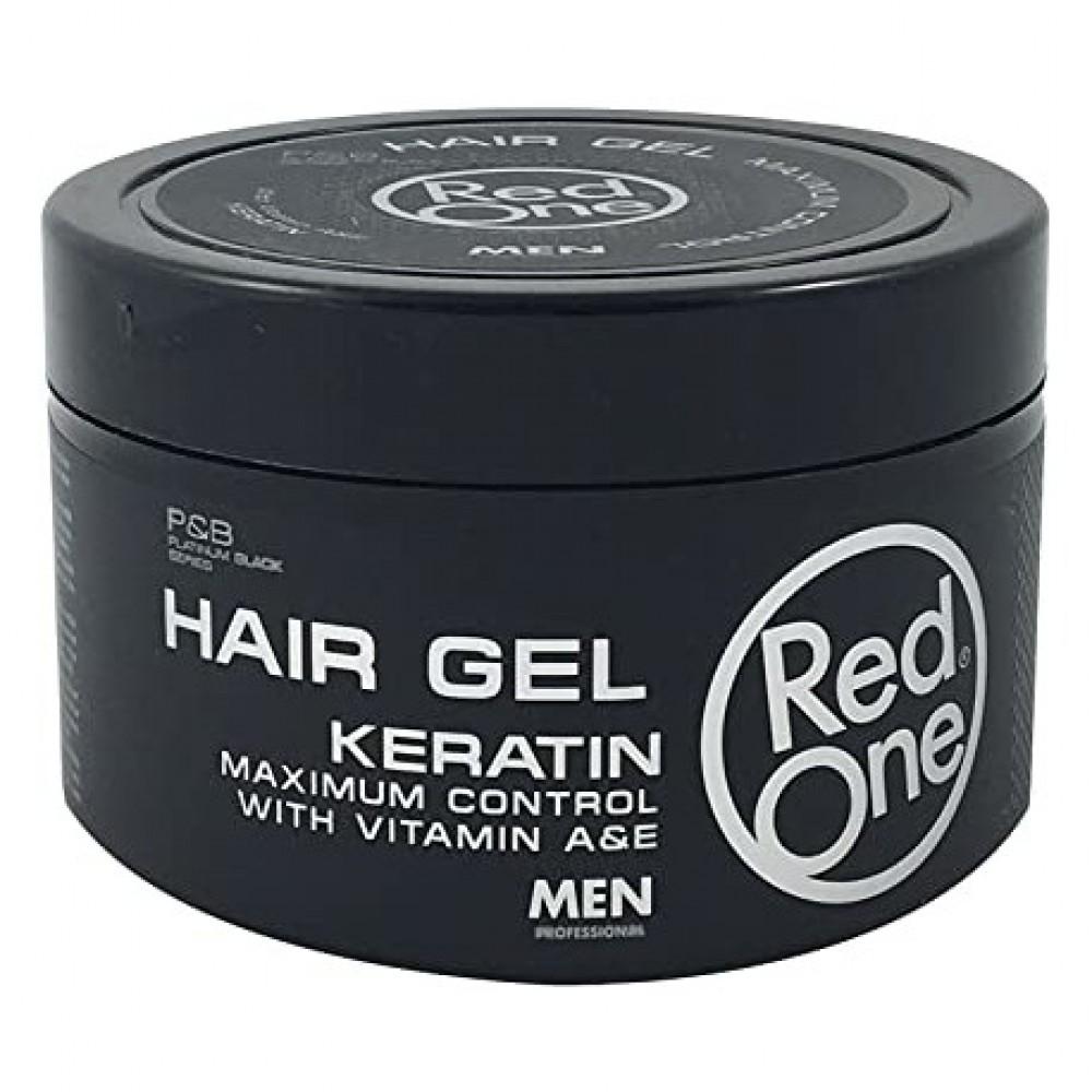 RED ONE HAIR GEL KERATIN VITAMIN A&E FULL FORCE 450ML
