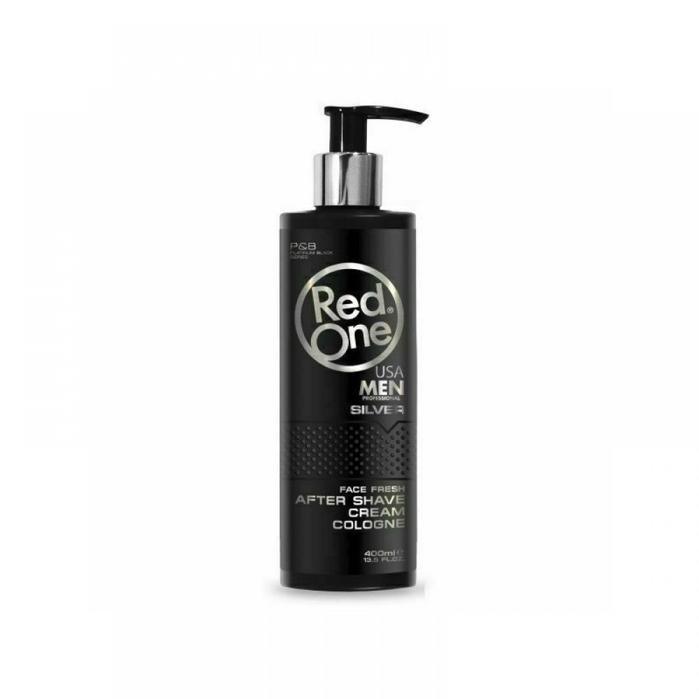 RED ONE AFTER SHAVE CREAM COLOGNE SILVER 400ML