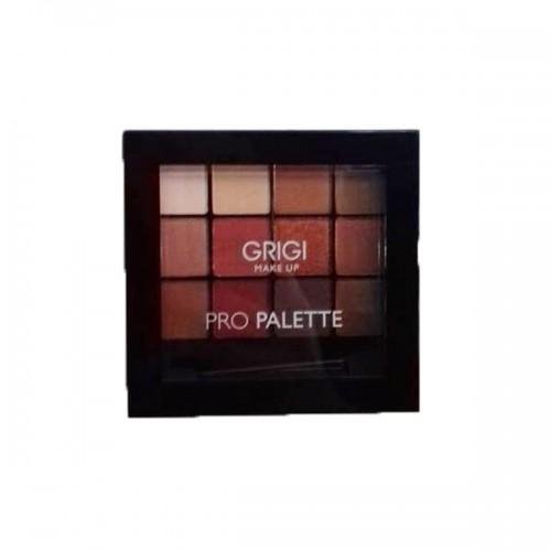 Σκιές Ματιών Grigi Make up Pro palette No 42 Pro Red - Παλέτα σκιών Κόκκινων αποχρώσεων 12x1,5g
