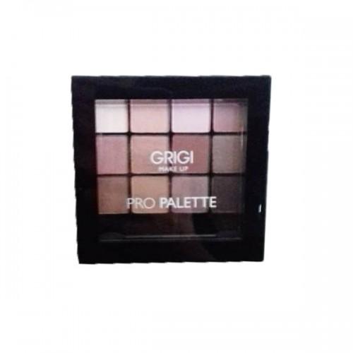 Σκιές Ματιών Grigi Make up Pro palette No 43 Pro Pink - Παλέτα σκιών Ροζ αποχρώσεων 12x1,5g