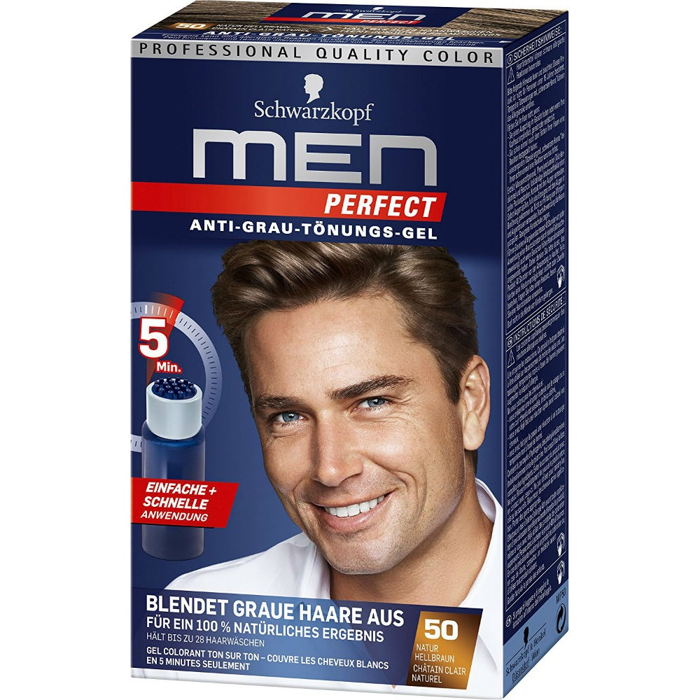Ανδρική βαφή μαλλιών Schwarzkopf Professional Men Perfect Νο 50 Φυσικό καστανό ανοιχτό 40ml