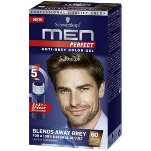 Ανδρική βαφή μαλλιών Schwarzkopf Professional Men Perfect Νο 60 Φυσικό καστανό μεσαίο 40ml