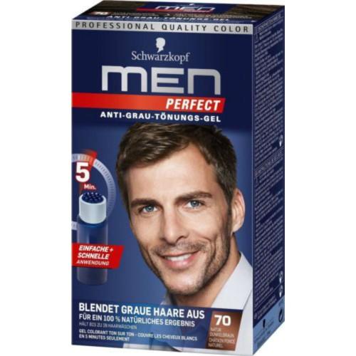 Ανδρική βαφή μαλλιών Schwarzkopf Professional Men Perfect Νο 70 Φυσικό Καστανό Σκούρο 40ml