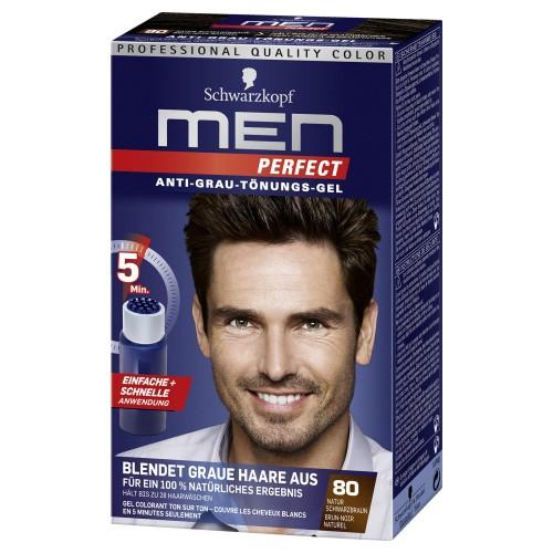 Ανδρική βαφή μαλλιών Schwarzkopf Professional Men Perfect Νο 80 Φυσικό Μαύρο Καστανό 40ml