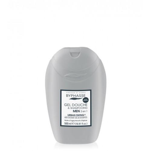 Byphasse Ανδρικό Αφρόλουτρο Και Σαμπουάν 2 σε 1 Urban Swing 500 ml