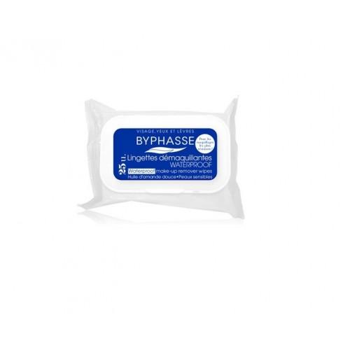 Πανάκια Ντεμακιγιάζ - Byphasse Make-up remover wipes waterproof sensitive skin 25τεμ