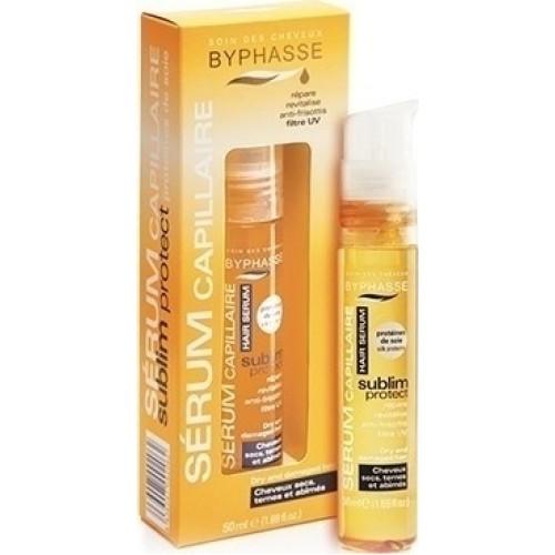 Byphasse Hair Sublim Serum Ορός Προστασίας για Ξηρά και Ταλαιπωρημένα μαλλιά απο Υγρή Πρωτεϊνη Μεταξιού 50ml
