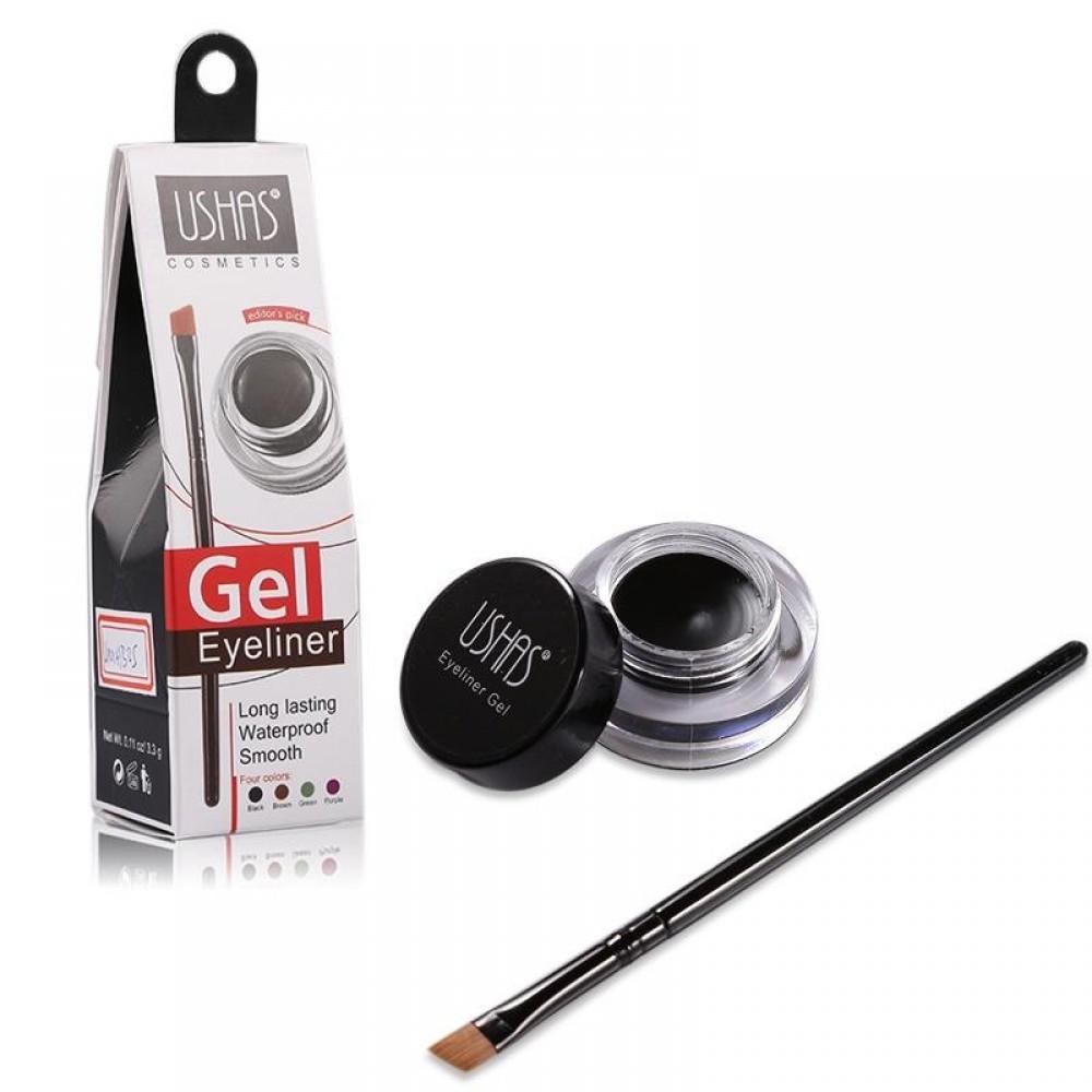 Ushas Gel Eyeliner Longlasting Waterproof Black 3.3gr