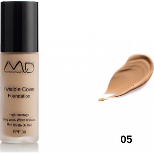 MD Professionnel Invisible Cover Foundation SPF30 05 Bronze 30ml