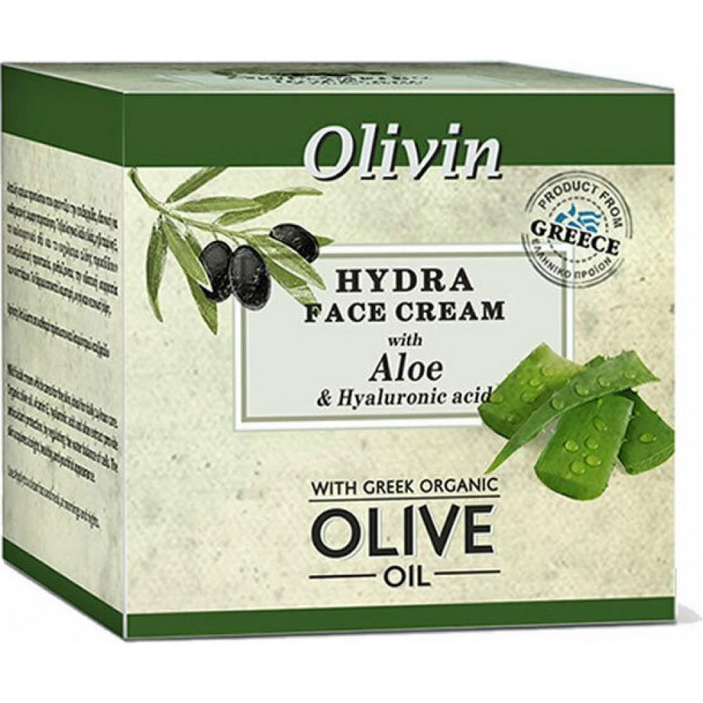 Olivin Hydra Face Cream 50ml με  Υαλουρονικό οξύ και  Αλόη
