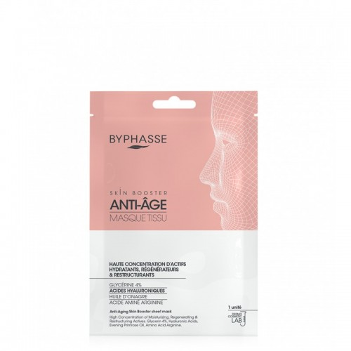 BYPHASSE SKIN BOOSTER ΥΦΑΣΜΑΤΙΝΗ ΜΑΣΚΑ ΠΡΟΣΩΠΟΥ ANTI-AGING