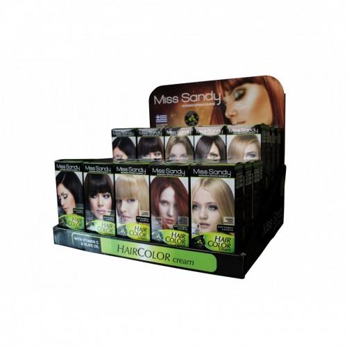 Miss Sandy Hair Color Cream 9.1 Ξανθό Πολύ Ανοιχτό Σαντρέ  60ml