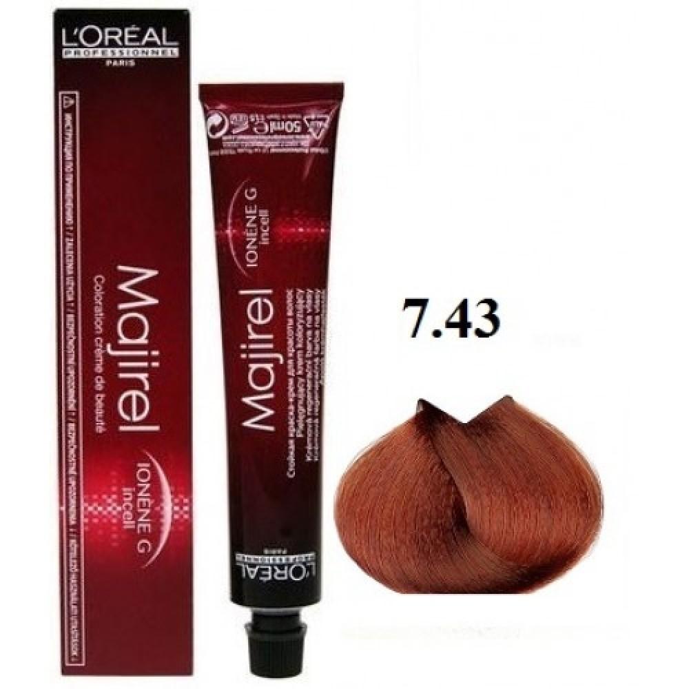 Βαφή μαλλιών L Oreal Professionnel Majirel No 7.43 Ξανθό Χάλκινο Ντορέ 50ml c7ea6674c7e